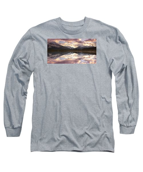 Reflecting Mountains Long Sleeve T-Shirt by Keith Kapple