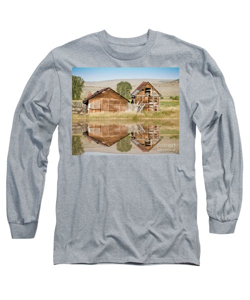 Reflection Of An Old Building Long Sleeve T-Shirt