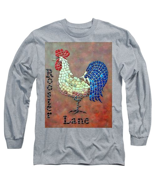 Long Sleeve T-Shirt featuring the painting Rooster Lane by Cynthia Amaral