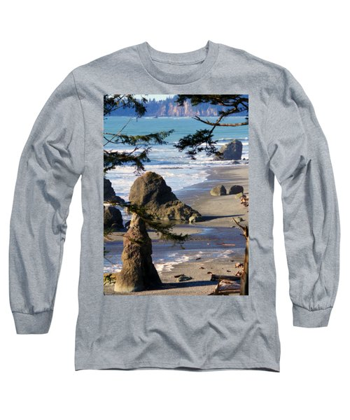 Long Sleeve T-Shirt featuring the photograph Ruby Beach Iv by Jeanette C Landstrom