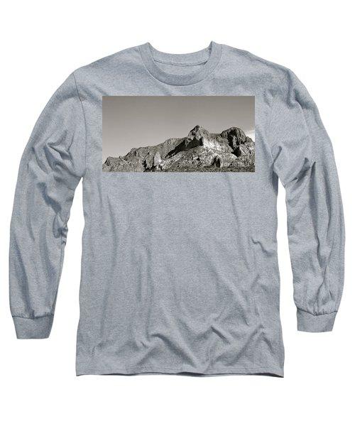 Salt River Black And White Long Sleeve T-Shirt by Pamela Walrath