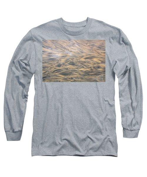 Sand Patterns Long Sleeve T-Shirt by Nareeta Martin