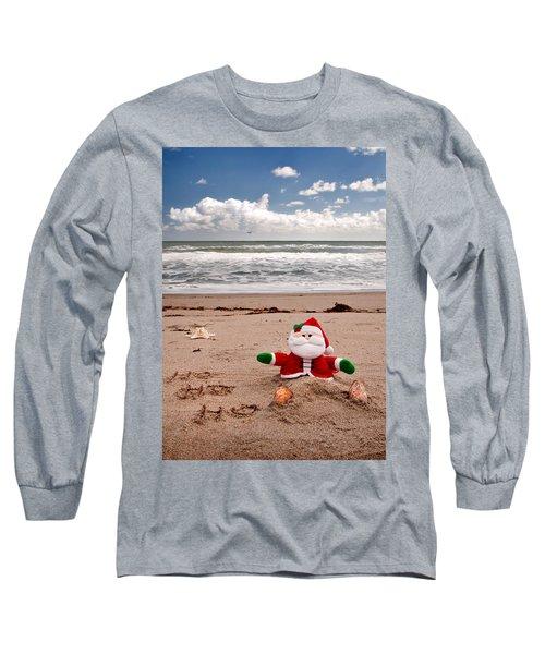 Santa At The Beach Long Sleeve T-Shirt