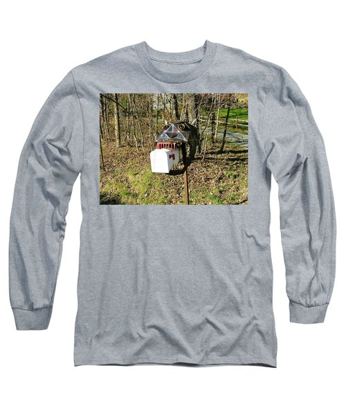 Long Sleeve T-Shirt featuring the photograph Scary Mailbox 3 by Sherman Perry