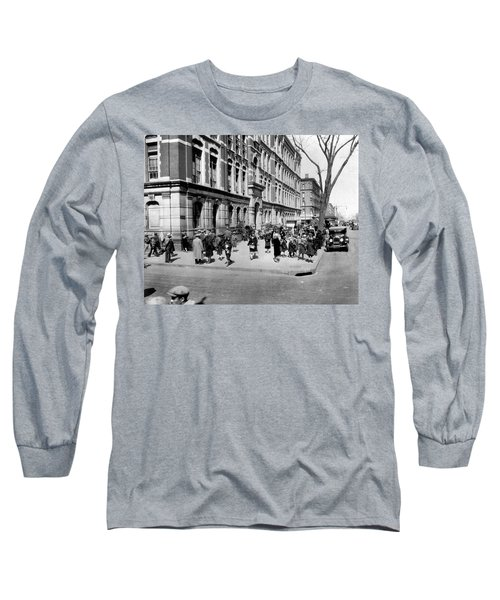 School's Out In Harlem Long Sleeve T-Shirt by Underwood Archives