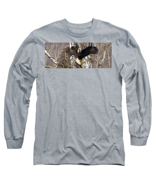 Long Sleeve T-Shirt featuring the photograph Screaming Eagle  by Randall Branham