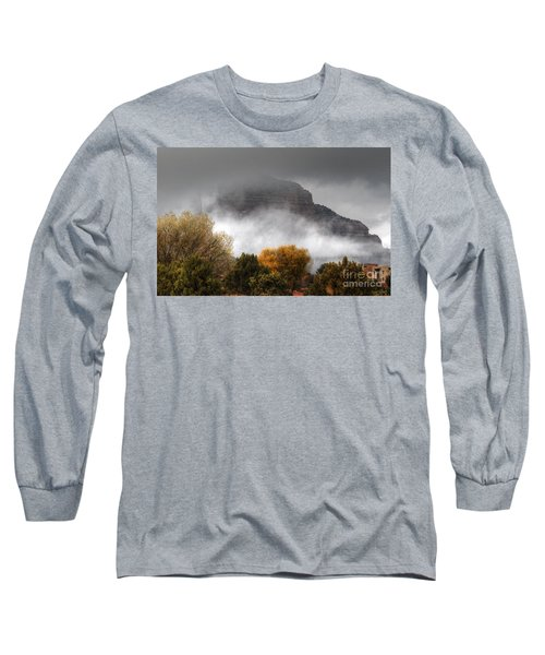 Long Sleeve T-Shirt featuring the photograph Sedona Fog by Tam Ryan