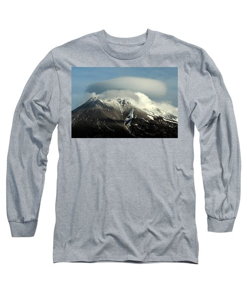 Long Sleeve T-Shirt featuring the digital art Shasta Lenticular 2 by Holly Ethan