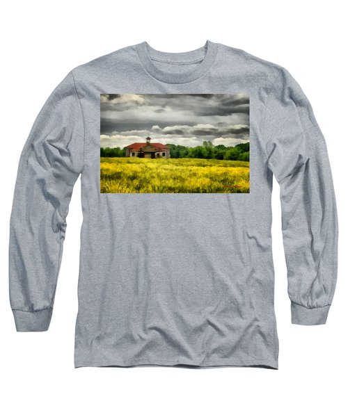 Long Sleeve T-Shirt featuring the painting Shiloh School by Lynne Jenkins