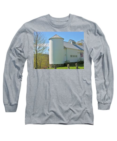 Long Sleeve T-Shirt featuring the photograph Vermont Silo And Barn  by Sherman Perry