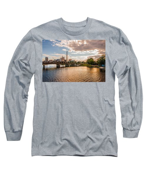 Long Sleeve T-Shirt featuring the photograph Silver Lake by Tom Gort
