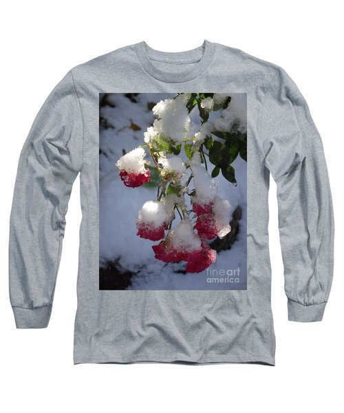 Snow Covered Roses Long Sleeve T-Shirt