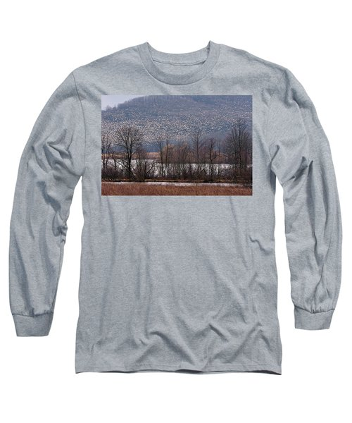 Snow Geese Rising Long Sleeve T-Shirt