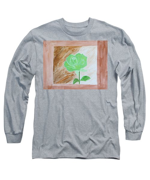 Long Sleeve T-Shirt featuring the painting Solitary Rose by Sonali Gangane