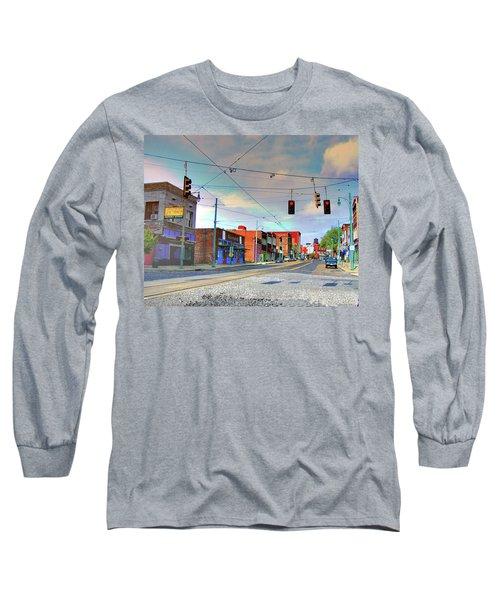 Long Sleeve T-Shirt featuring the photograph South Main Street Memphis by Lizi Beard-Ward