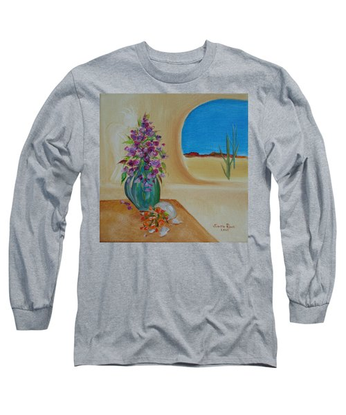 Long Sleeve T-Shirt featuring the painting Southwestern 3 by Judith Rhue