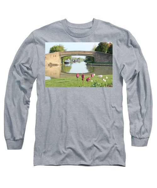 Spring On The Oxford Canal Long Sleeve T-Shirt