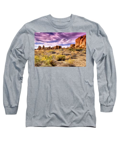 Spring Rain At Chaco Canyon Long Sleeve T-Shirt
