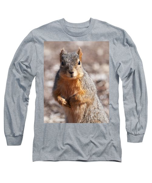 Long Sleeve T-Shirt featuring the photograph Squirrel by Art Whitton