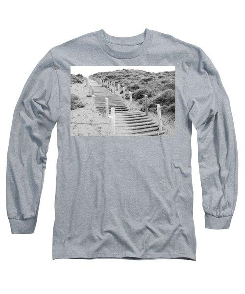 Stairs At Baker Beach Long Sleeve T-Shirt