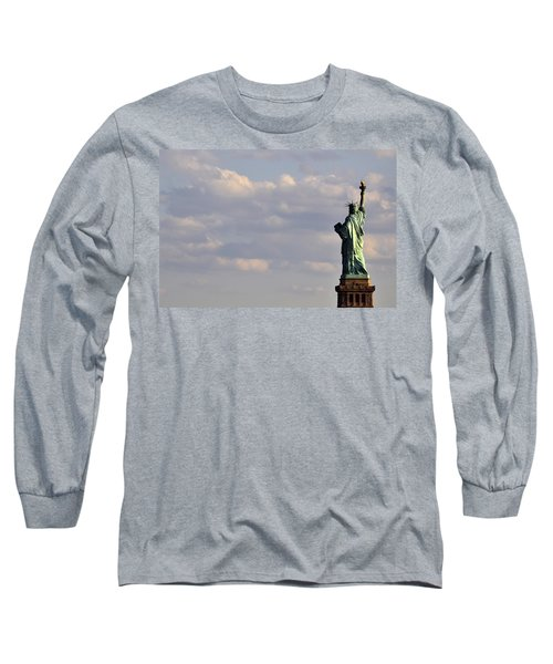 Long Sleeve T-Shirt featuring the photograph Statue Of Liberty by Zawhaus Photography