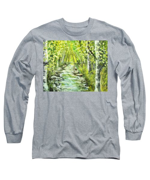 Long Sleeve T-Shirt featuring the painting Summer by Shana Rowe Jackson