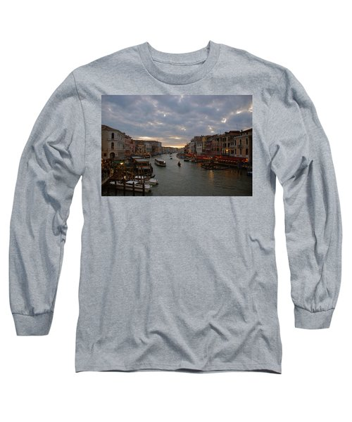 Sun Sets Over Venice Long Sleeve T-Shirt by Eric Tressler