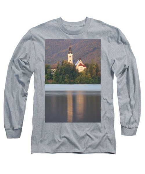 Sunrise Over Lake Bled And The Island Church Long Sleeve T-Shirt