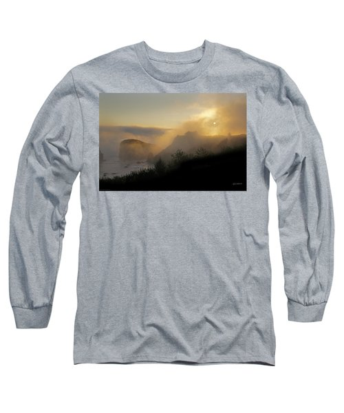 Sunset At Harris Beach Long Sleeve T-Shirt by Mick Anderson