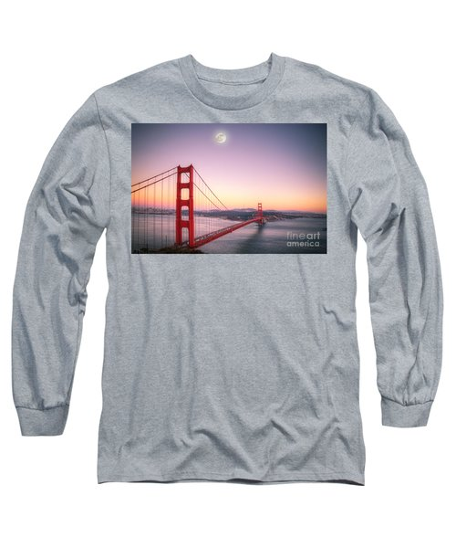 Sunset In San Francisco Long Sleeve T-Shirt by Jim And Emily Bush