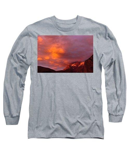 Sunset Murren Switzerland Long Sleeve T-Shirt