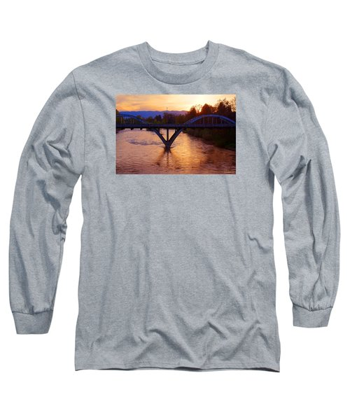 Sunset Over Caveman Bridge Long Sleeve T-Shirt by Mick Anderson