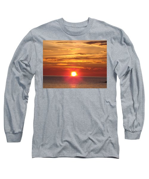Long Sleeve T-Shirt featuring the photograph Superior Setting by Bonfire Photography