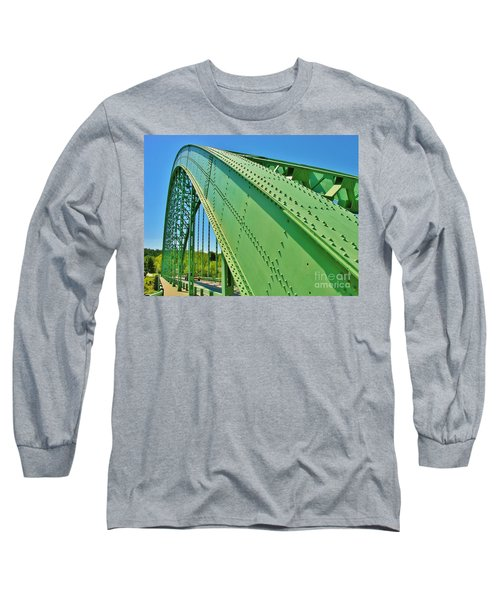 Long Sleeve T-Shirt featuring the photograph Suspension Bridge by Sherman Perry