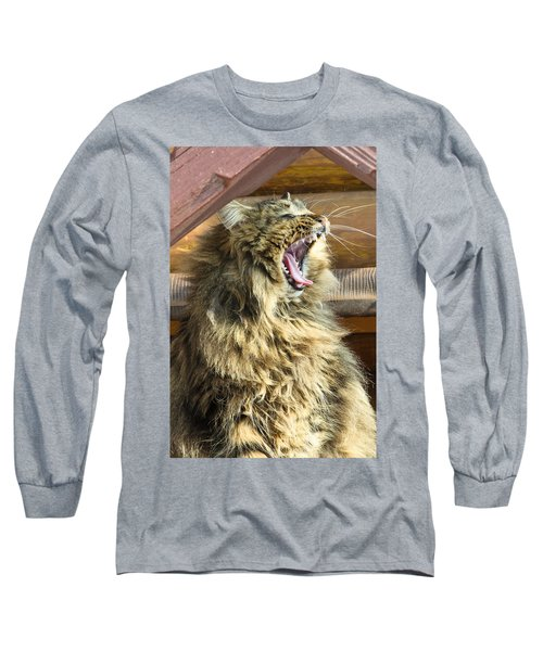 The Cat Who Loves To Sing Long Sleeve T-Shirt