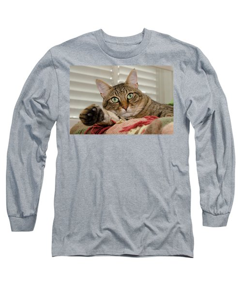 The Cat With Green Eyes Long Sleeve T-Shirt
