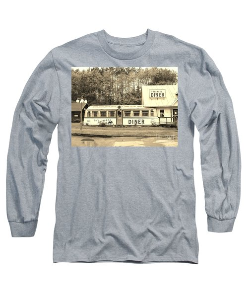 Long Sleeve T-Shirt featuring the photograph The Farmers Diner In Sepia by Sherman Perry