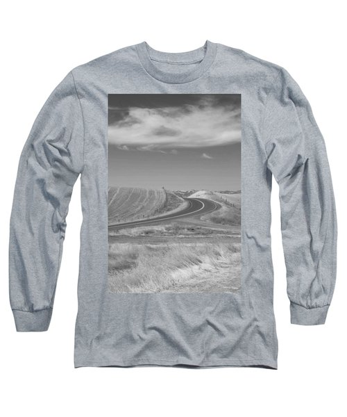 Long Sleeve T-Shirt featuring the photograph The Quiet Road by Kathleen Grace