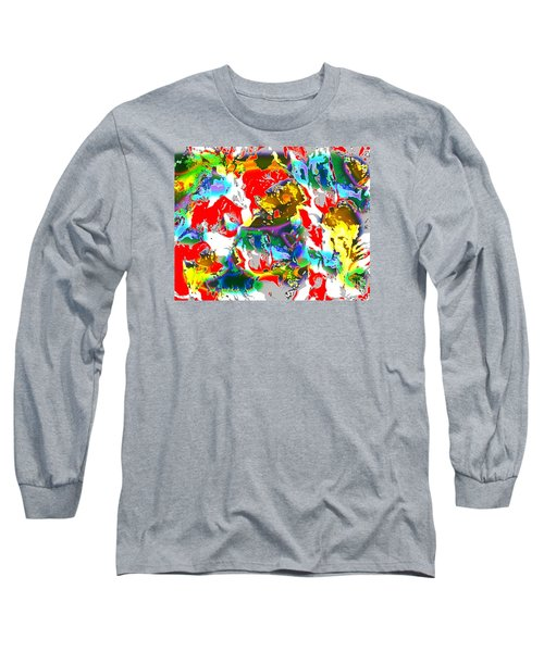 Long Sleeve T-Shirt featuring the digital art The Secret Lives Of Flowers by Beth Saffer