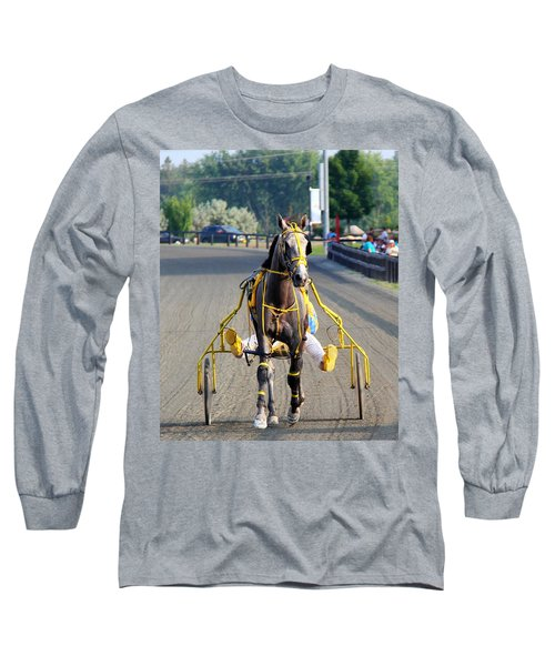 Long Sleeve T-Shirt featuring the photograph The Warm-up by Davandra Cribbie