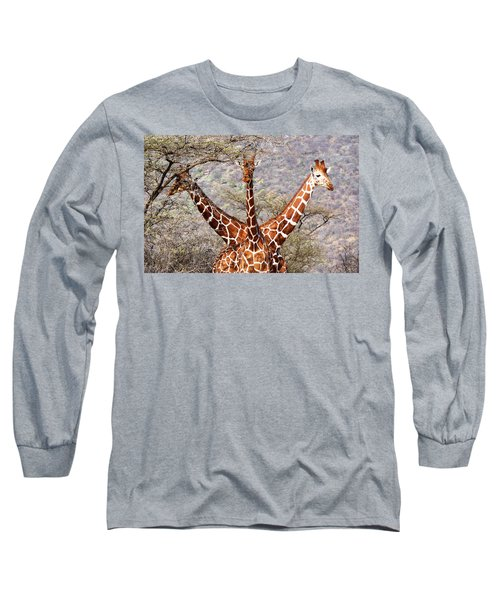Three Headed Giraffe Long Sleeve T-Shirt