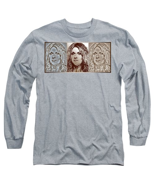 Three Interpretations Of Celine Dion Long Sleeve T-Shirt by J McCombie