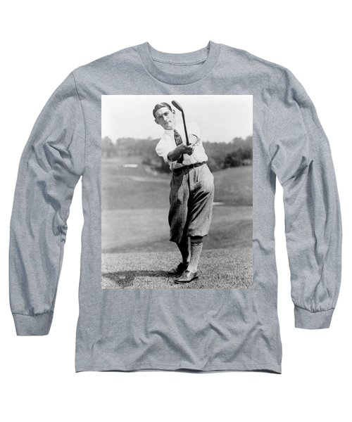 Long Sleeve T-Shirt featuring the photograph Tom Armour Wins Us Golf Title - C 1927 by International  Images