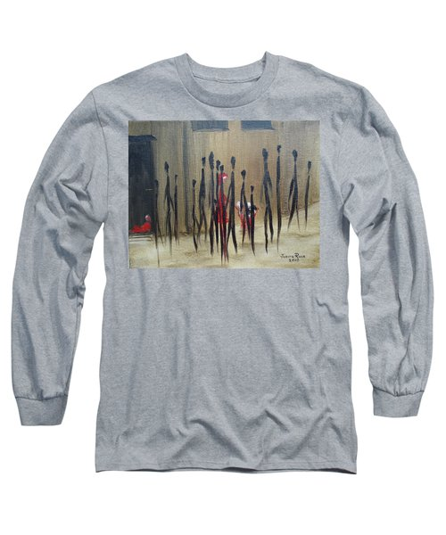 Long Sleeve T-Shirt featuring the painting Too Busy To Notice by Judith Rhue