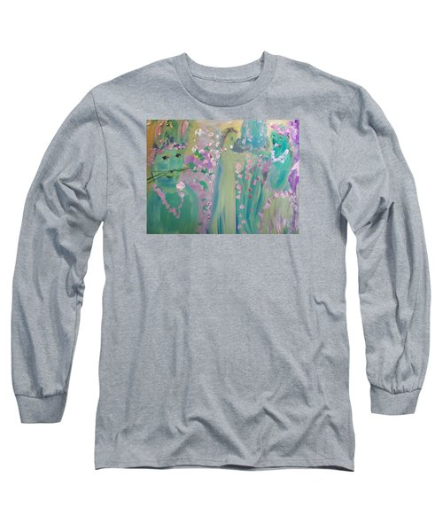 Topiary Easter Long Sleeve T-Shirt by Judith Desrosiers