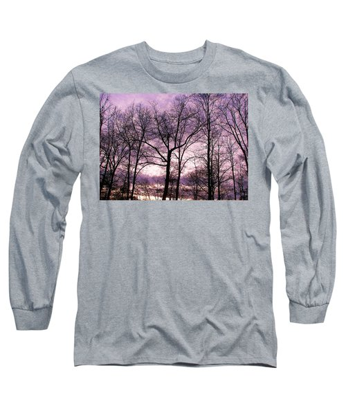 Long Sleeve T-Shirt featuring the photograph Trees In Glorious Calm by Pamela Hyde Wilson