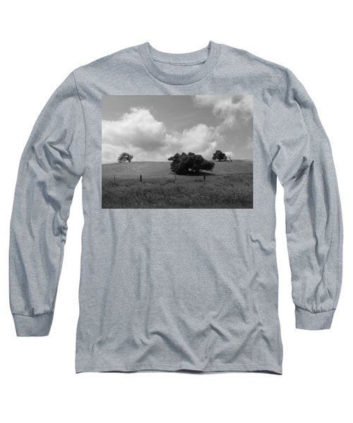 Long Sleeve T-Shirt featuring the photograph Trees On The Hillrise by Kathleen Grace