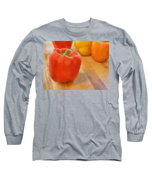 Tri Colored Peppers Long Sleeve T-Shirt