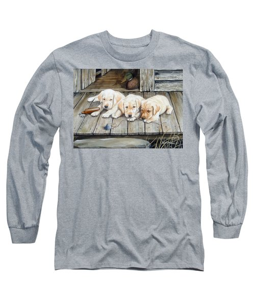 Tuckered Out Trio  Sold  Prints Available Long Sleeve T-Shirt