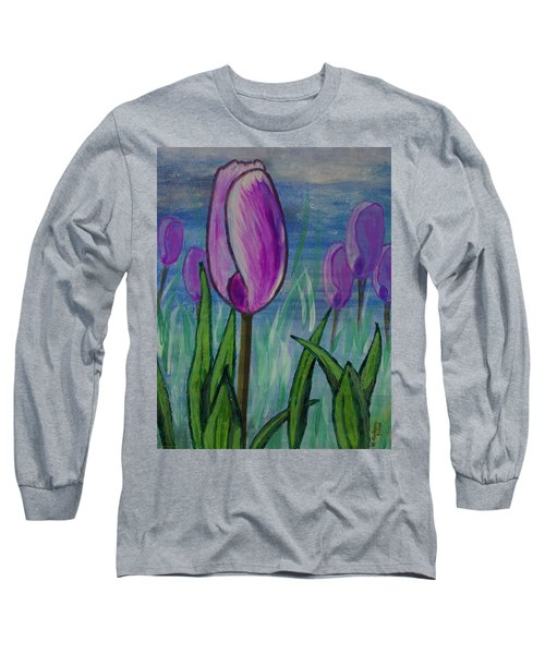 Tulips In The Mist Long Sleeve T-Shirt